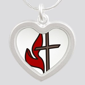 Cross And Flame Necklaces
