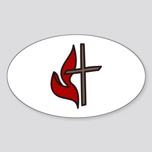 Cross And Flame Sticker