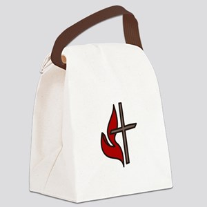 Cross And Flame Canvas Lunch Bag