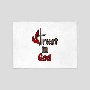 Trust In God 5'x7'Area Rug