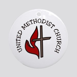 United Methodist Church Round Ornament