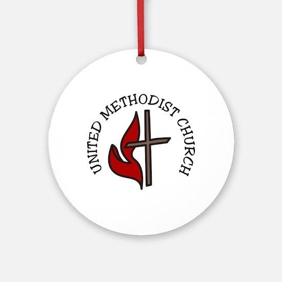 United Methodist Church Round Ornament