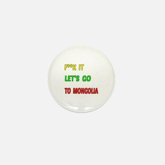 Let's go to Mongolia Mini Button