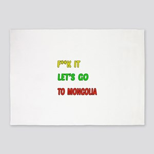Let's go to Mongolia 5'x7'Area Rug