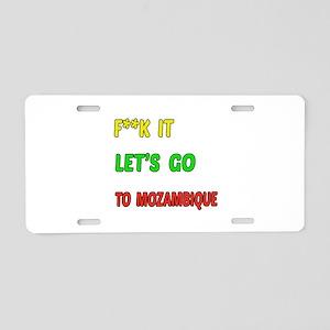Let's go to Mozambique Aluminum License Plate