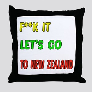 Let's go to New Zealand Throw Pillow