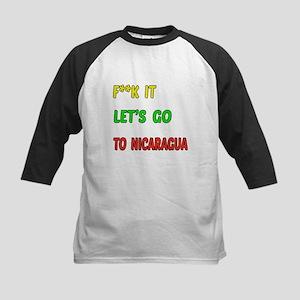 Let's go to Nicaragua Kids Baseball Jersey
