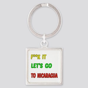 Let's go to Nicaragua Square Keychain
