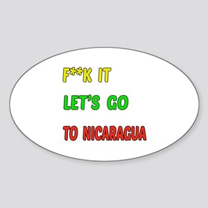 Let's go to Nicaragua Sticker (Oval)