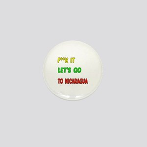 Let's go to Nicaragua Mini Button