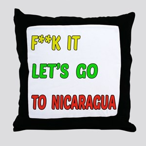 Let's go to Nicaragua Throw Pillow