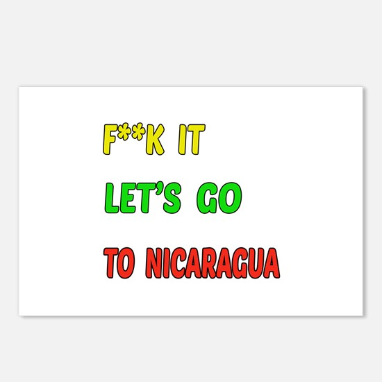 Let's go to Nicaragua Postcards (Package of 8)