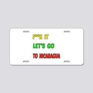 Let's go to Nicaragua Aluminum License Plate