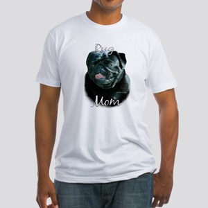 Pug Mom2 Fitted T-Shirt