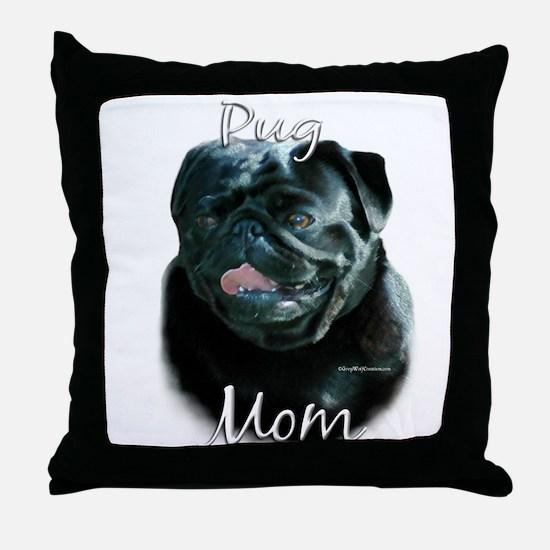 Pug Mom2 Throw Pillow
