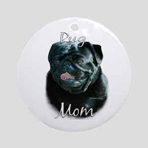 Pug Mom2 Ornament (Round)