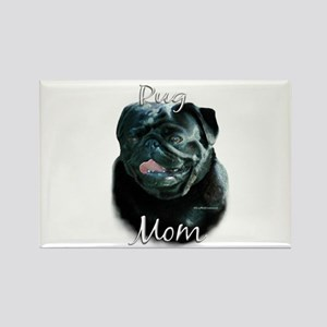 Pug Mom2 Rectangle Magnet