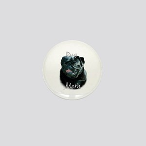 Pug Mom2 Mini Button