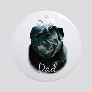 Pug Dad2 Ornament (Round)