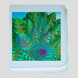 3D seashells artwork baby blanket
