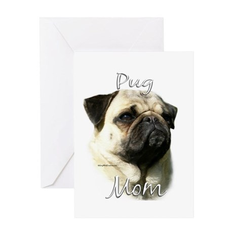 Pug Mom2 Greeting Card
