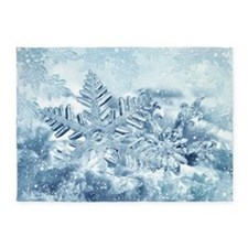 Snowflake Crystals 5'x7'Area Rug