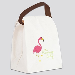 The Flamingo Lady Canvas Lunch Bag