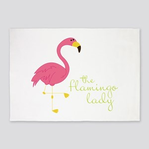 The Flamingo Lady 5'x7'Area Rug