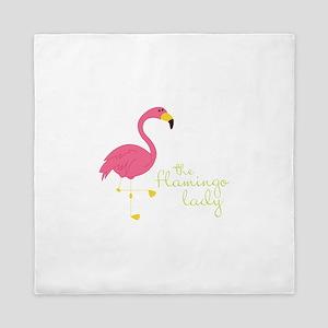 The Flamingo Lady Queen Duvet