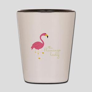 The Flamingo Lady Shot Glass