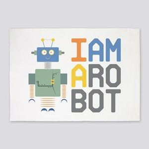 I Am A Robot 5'x7'Area Rug
