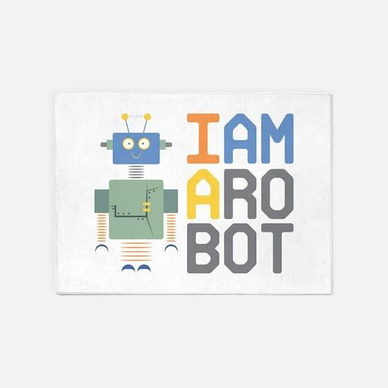 I Am A Robot 5'x7'Area Rug