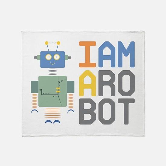 I Am A Robot Throw Blanket