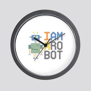 I Am A Robot Wall Clock
