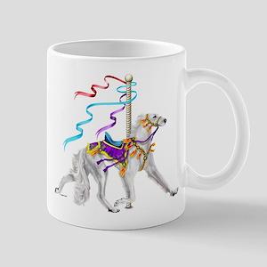 Saluki White Carousel Mug