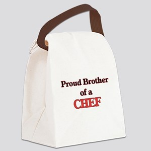 Proud Brother of a Chef Canvas Lunch Bag