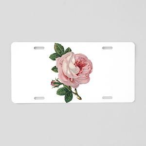 Elegant rose Aluminum License Plate