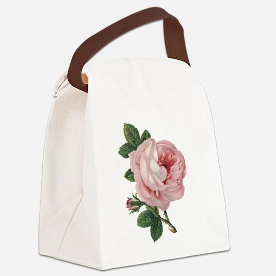 Elegant Rose Canvas Lunch Bag