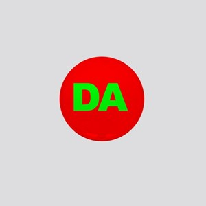 Classic Red DA Logo Mini Button