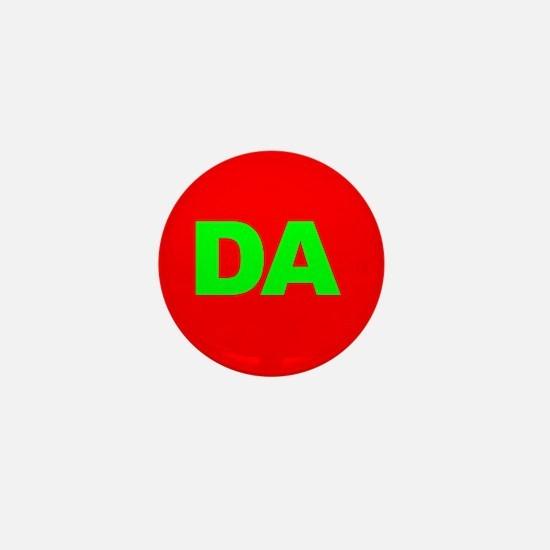 Classic Red DA Logo Mini Button