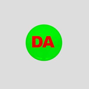 Classic Green DA Logo Mini Button