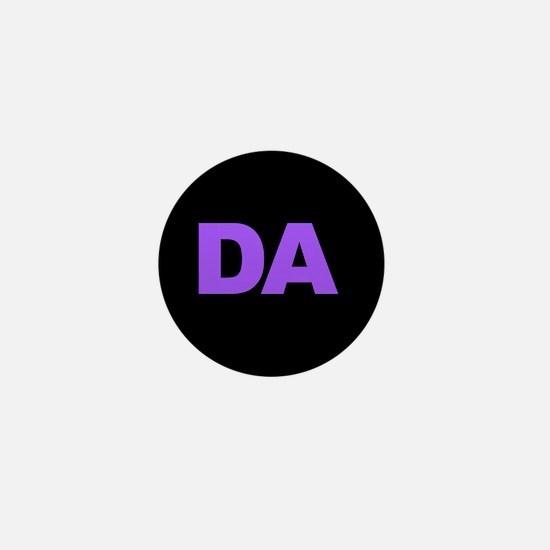 Classic Black DA Logo Mini Button