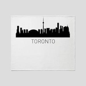 Toronto Ontario Cityscape Throw Blanket