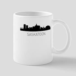 Saskatoon Saskatchewan Cityscape Mugs