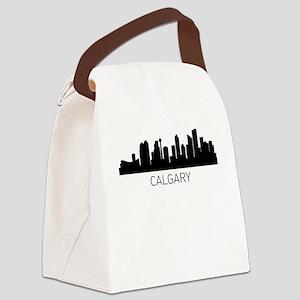 Calgary Alberta Cityscape Canvas Lunch Bag