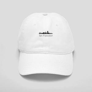 San Francisco California Cityscape Baseball Cap