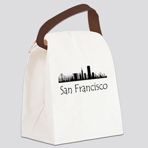 San Francisco California Cityscape Canvas Lunch Ba