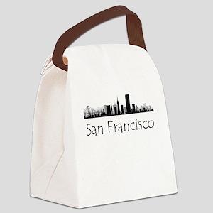 San Francisco California Cityscape Canvas Lunch Ba