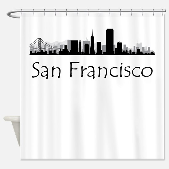 San Francisco California Cityscape Shower Curtain