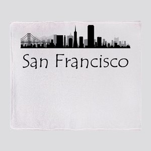 San Francisco California Cityscape Throw Blanket